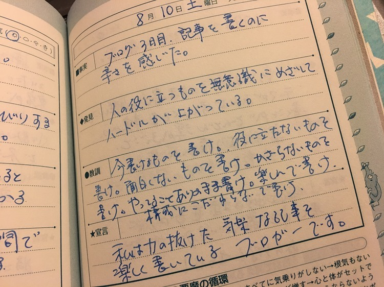 4行日記の写真