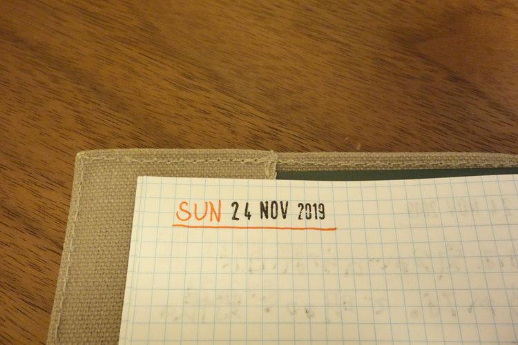 日付スタンプの写真