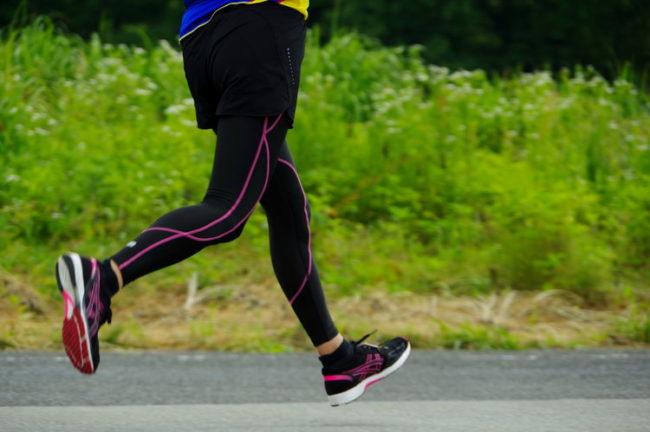 マラソン練習の写真