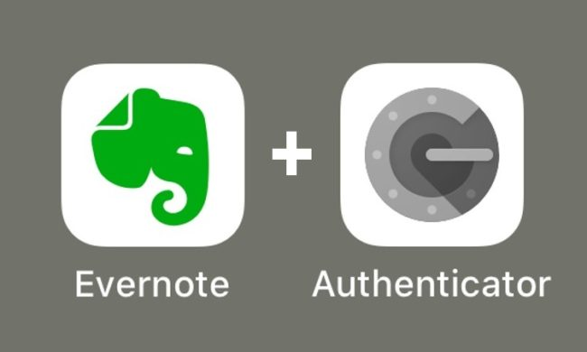 EvernoteとGoogle Authenticatorのアイコンの画像