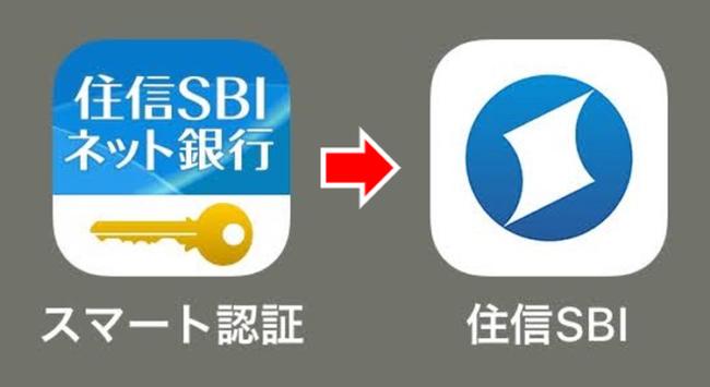スマート認証アプリとSBI銀行アプリのアイコン